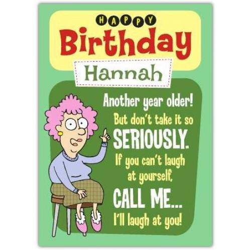 Aunty Acid Another Year Older Birthday Card