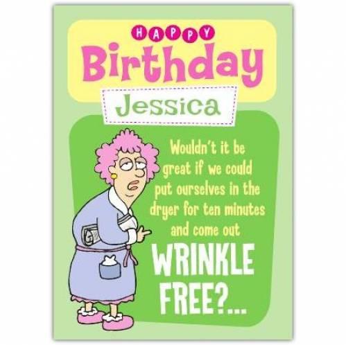 Aunty Acid Wrinkle Free Birthday Card