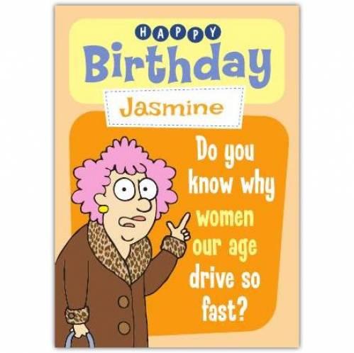 Aunty Acid Women Our Age Birthday Card