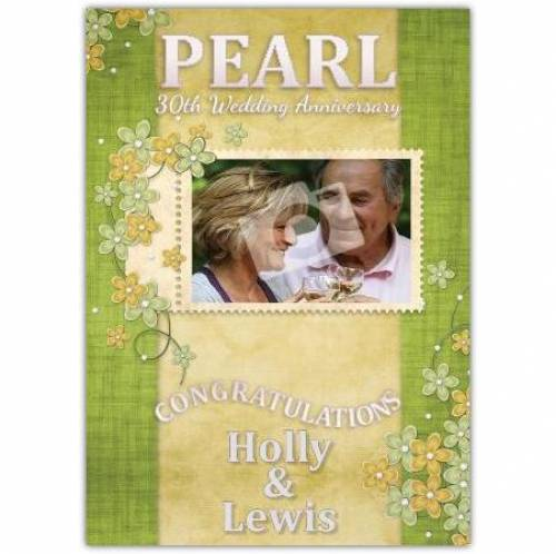 Congratulation Pearl 30th Wedding Anniversary Card