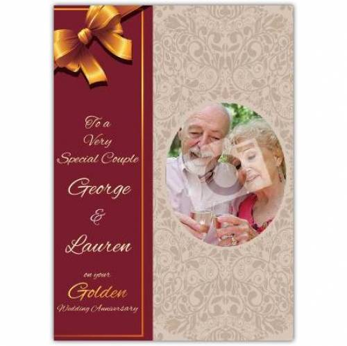 Very Special Couple Golden 50th Wedding Anniversary Card