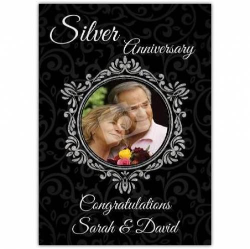 Silver Anniversary, Congratulations Card