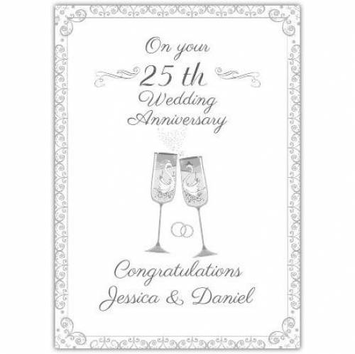 25th Wedding Anniversary Celebration Card