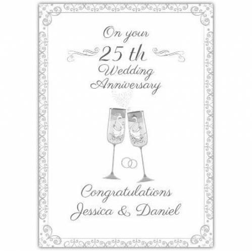 25th Wedding Anniversary Celebration Card