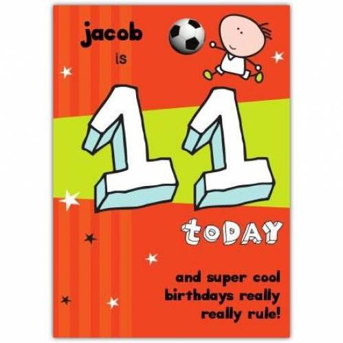 Super Cool Happy 11th Birthday Card