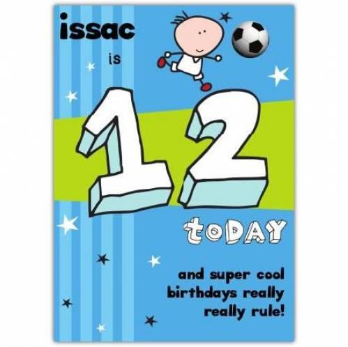 Super Cool Happy 12th Birthday Card
