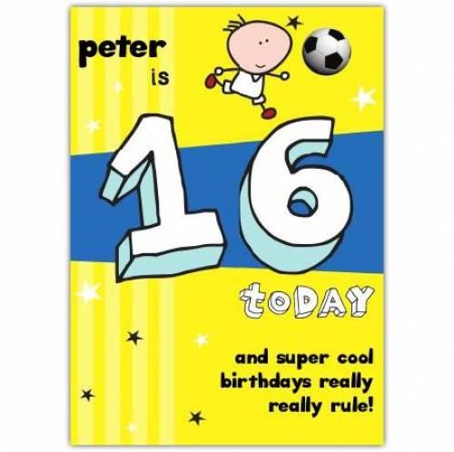 Super Cool Happy 16th Birthday Card