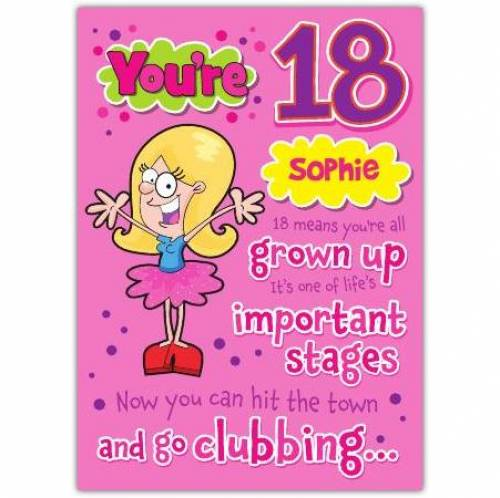 Go Clubbing Happy 18th Birthday Card