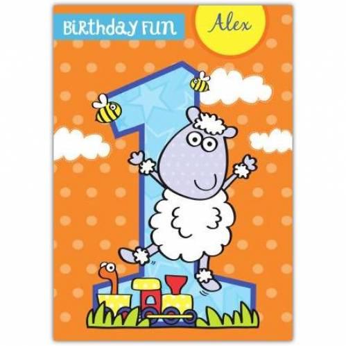 Birthday Fun Happy 1st Birthday Boy Card