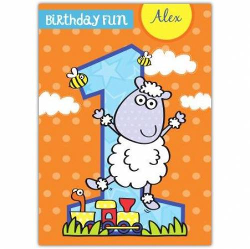 Birthday Fun Happy 1st Birthday Boy Card