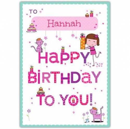 Happy Birthday To You Girl Birthday Card