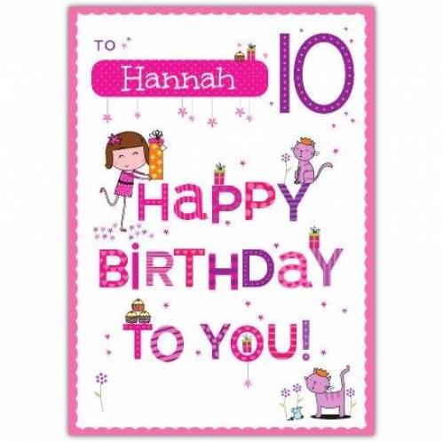 Happy Birthday To You Happy 10th Birthday Card