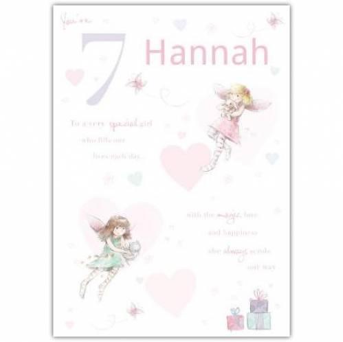 Special Girl Fairy Happy 7th Birthday Card