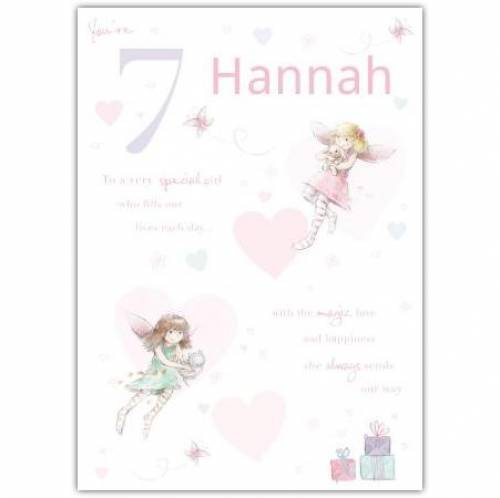 Special Girl Fairy Happy 7th Birthday Card