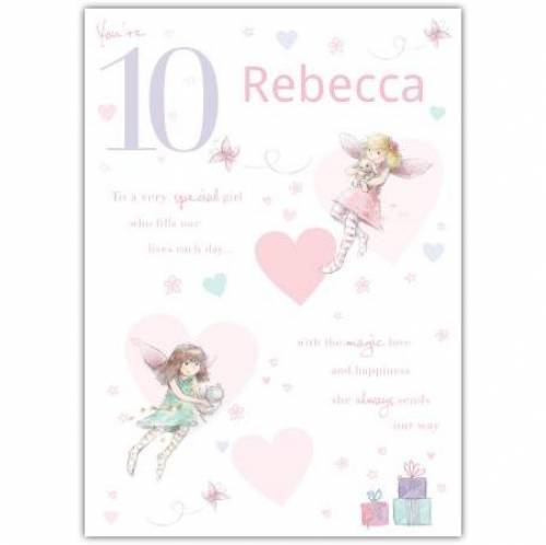 Special Girl Fairy Happy 10th Birthday Card