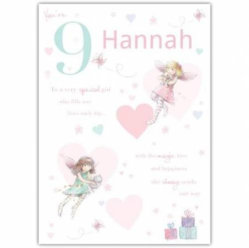 Special Girl Fairy Happy 9th Birthday Card