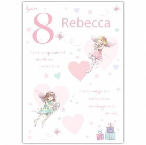 Special Girl Fairy Happy 8th Birthday Card
