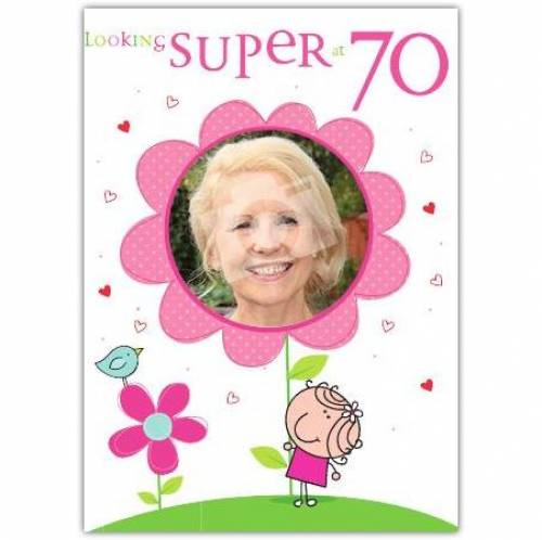 Looking Super 70th Birthday Card