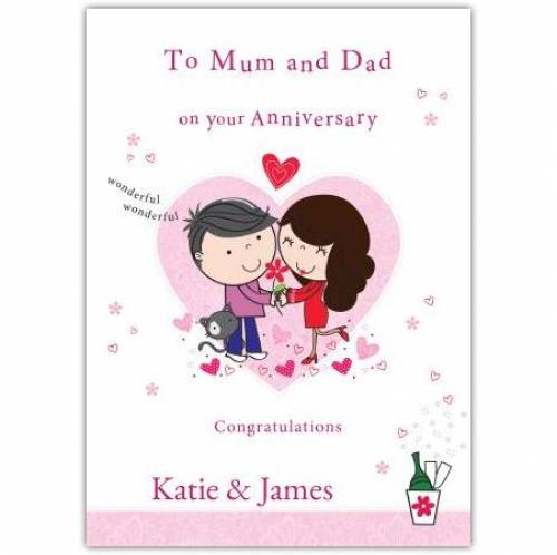 To Mum & Dad On Your Anniversary Card