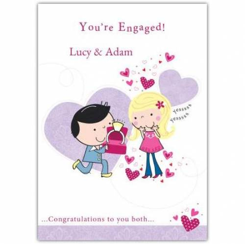 You're Engaged Congratulations Engagement Card