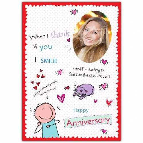 I Smile Happy Anniversary Card