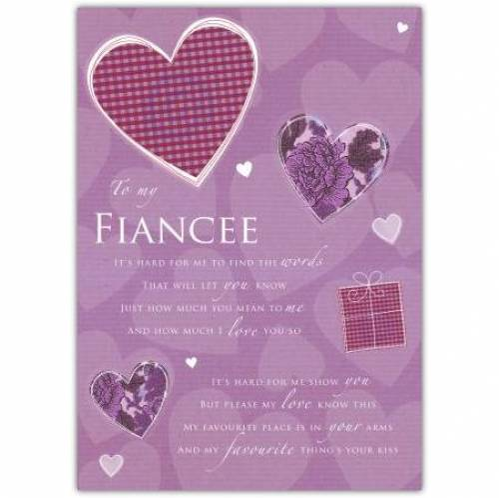 Wonderful Fiancee Birthday Card