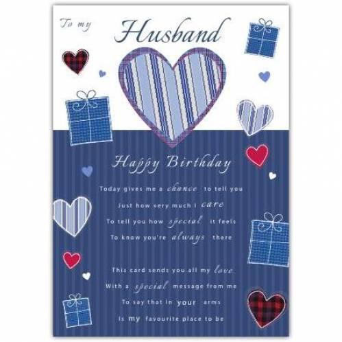 To My Husband Birthday Card