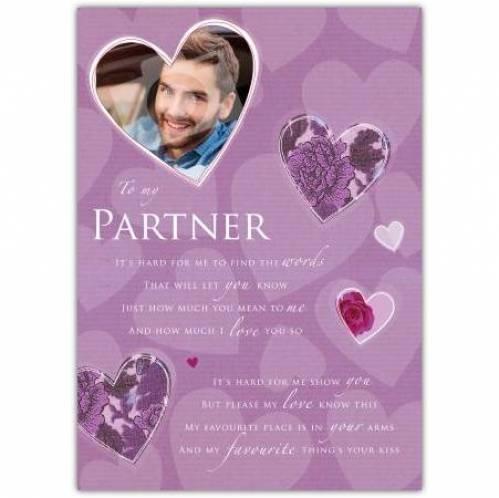 To My Partner Hearts Card