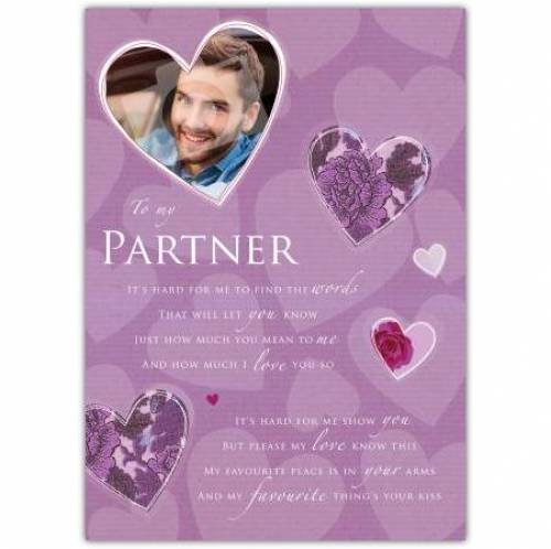 To My Partner Hearts Card