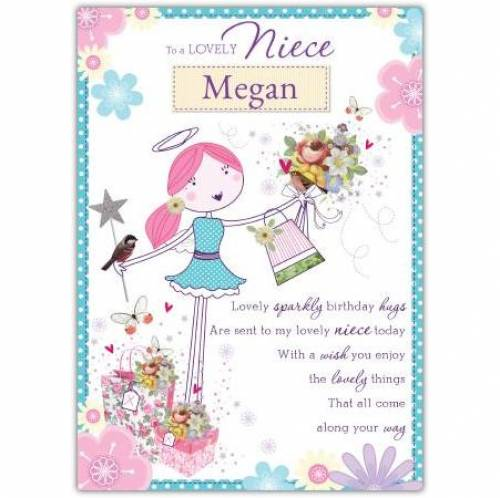 To A Lovely Niece Angel Birthday Card
