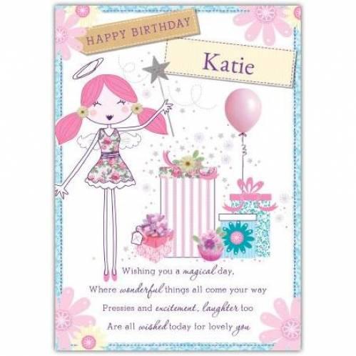 Happy Birthday Angel Birthday Card