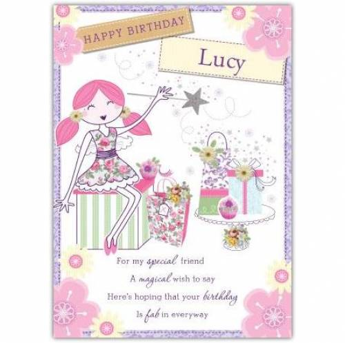 Happy Birthday Special Friend Angel Birthday Card