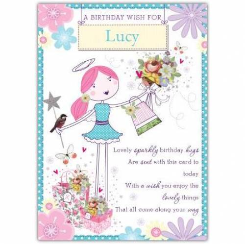 A Birthday Wish Angel Card