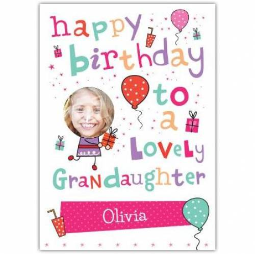 Lovely Grandaughter Happy Birthday Card