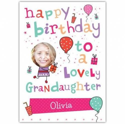 Lovely Grandaughter Happy Birthday Card