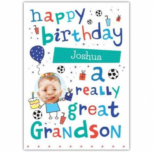 Really Great Grandson Birthday Card