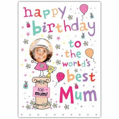 World's Best Mum Birthday Card