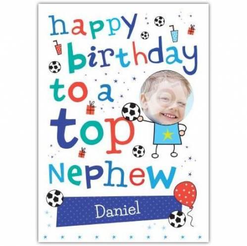 Top Nephew Birthday Card
