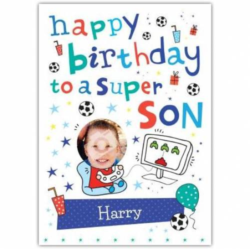 Super Son Birthday Card