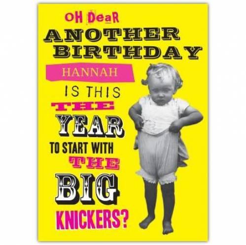Big Knickers Birthday Card