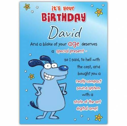 Special Present Hearing Aid Birthday Card
