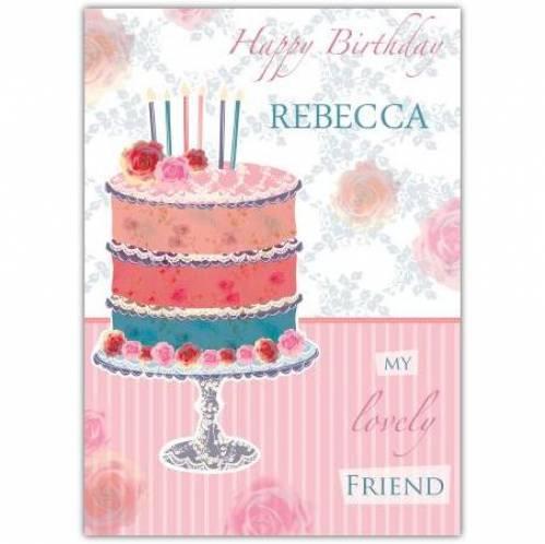 My Lovely Friend Cake Birthday Card