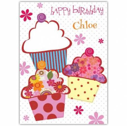 Happy Birthday Cupcake Birthday Card
