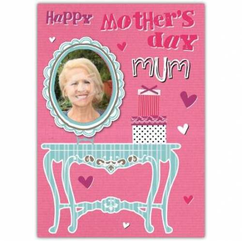 Happy Mother's Day Photo Dresser Card
