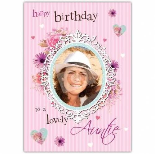 To A Lovely Auntie Birthday Card
