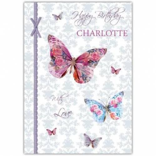 Happy Birthday Butterflies Birthday Card