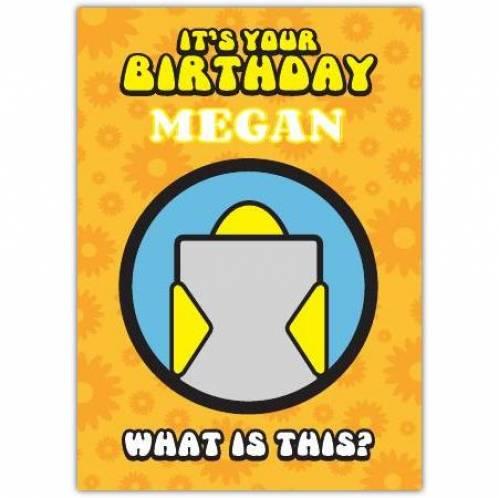 Canary Puzzle Birthday Card