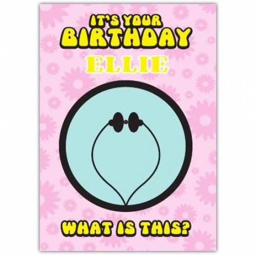 Ladybird Puzzle Birthday Card