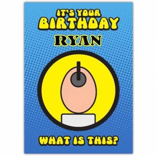 Humpty Dumpty Puzzle Birthday Card