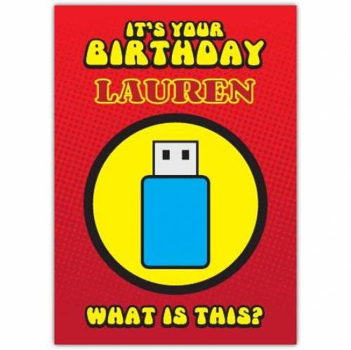 Robot Sleeping Bag Puzzle Birthday Card
